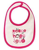 Peace Hope Love Reversible Bib