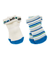 Train & Striped Socks Two-Pack