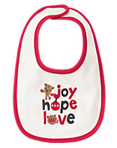 Joy Hope Love Reversible Bib