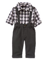 Suspender Pants 2-Piece Set