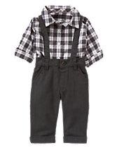 Suspender Pants 2-Piece Set