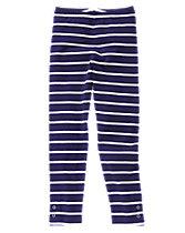 Striped Button Leggings