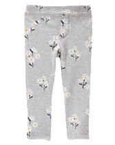 Daisy Print Skinny Pants