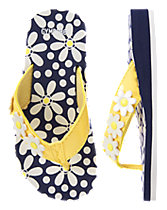 Daisy Wedge Flip Flops