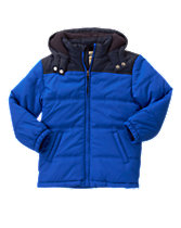 Fleece-Lined Puffer Jacket
