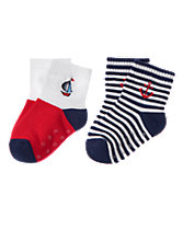 Boat & Anchor Socks 2-Pack