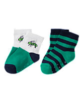 Grasshopper & Stripes Socks Two-Pack