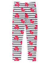 Floral Striped Leggings