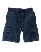 Denim Cargo Shorts