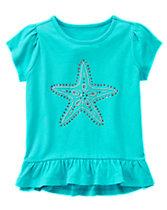 Starfish Peplum Top