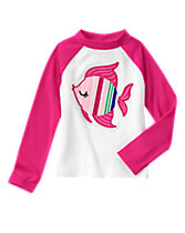 Fish Rash Guard Top