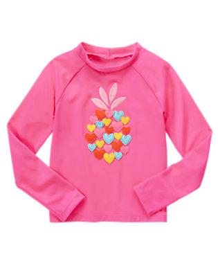 Girls Pacific Pink Heart Rash Guard by Gymboree
