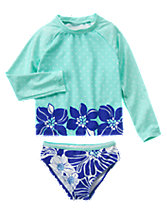 Floral Rash Guard Set