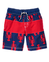 Lobster Stripe Swim Shorts