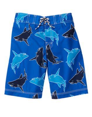 shark board shorts for boys
