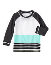Bright Stripe Rash Guard
