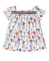 Kite Print Smock Top