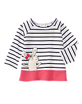 Striped Bunny Raglan