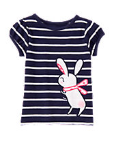 Striped Bunny Tee