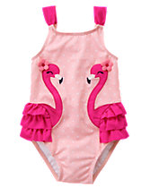 Flamingo 1-Piece Swimsuit
