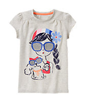 Sunglasses Girl Tee