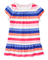 Multi-Striped Peplum Tee