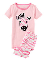 Zebra Shortie Two-Piece Gymmies®