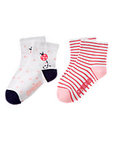 Ladybug Dot Socks 2-Pack