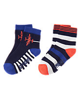 Planes & Stripes Socks Two-Pack