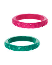 Faceted Bangles 2-Pack