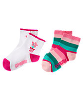 Bloom & Striped Socks 2-Pack