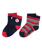 Baseball & Stripes Socks Two-Pack