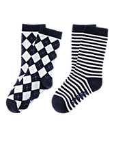 Argyle & Stripes Socks Two-Pack