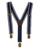 Stripe Trim Suspenders