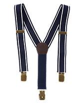 Stripe Trim Suspenders