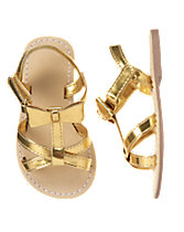 Metallic Bow Sandals