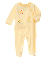 The Fuzzy Duckling Footed 1-Piece