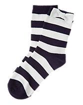 Striped Bow Socks