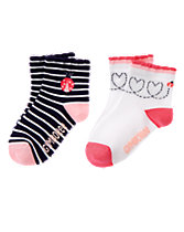 Ladybug Striped Socks 2-Pack