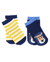 Lion & Striped Socks 2-Pack