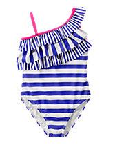 Ruffle 1-Piece Swimsuit