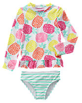 Pineapple Rash Guard Set