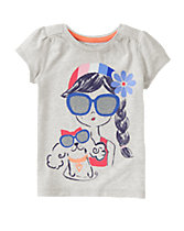 Sunglasses Girl Tee