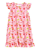 Cupcake Print Nightgown