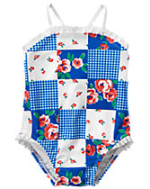 Patchwork Print Swimsuit