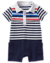 Striped Polo One-Piece