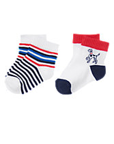 Puppy & Stripes Socks 2-Pack