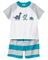 Dino Stripe Set