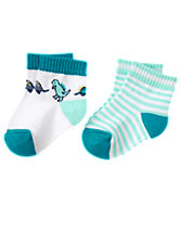 Dino & Stripe Socks