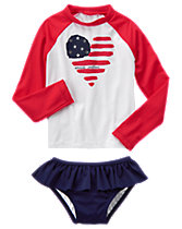 Flag Rash Guard Set